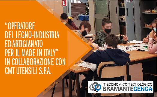 "CMT Utensili SpA continues to back and support the ""Wood Operator - Industry and Handicraft for Made In Italy"" training venture at the Bramante-Genga Institute"