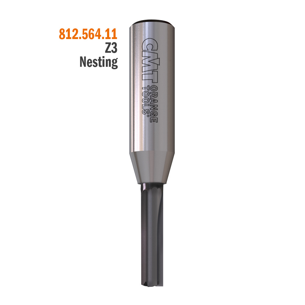Straight router bits, long series