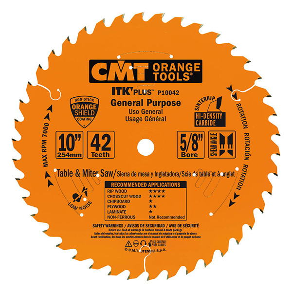 ITK Plus general purpose circular saw blades