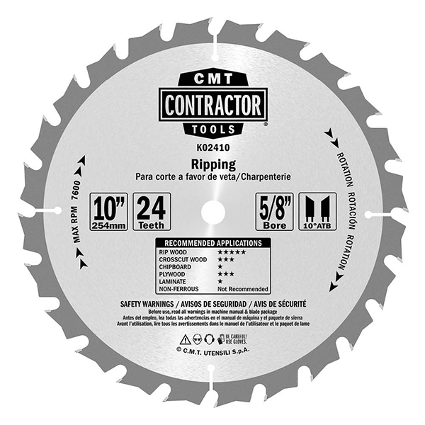 ITK Contractor ripping circular saw blades