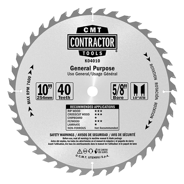ITK Contractor general purpose circular saw blades