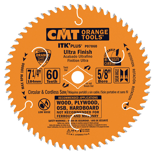 ITK Plus ultra finish circular saw blade