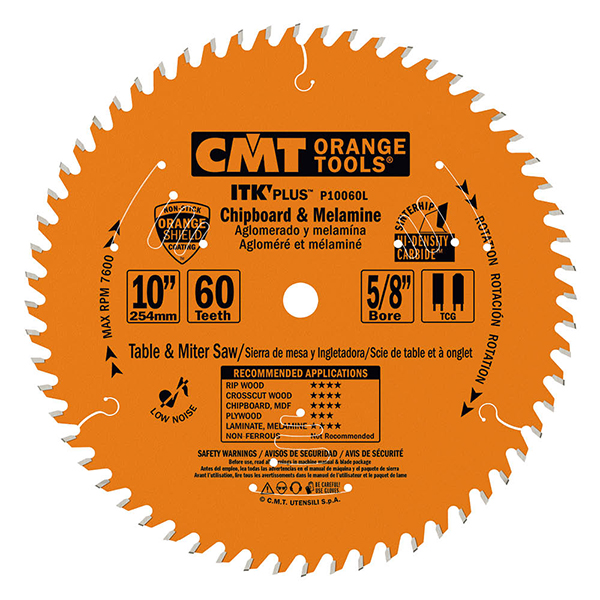 ITK Plus chipboard and melamine saw blades