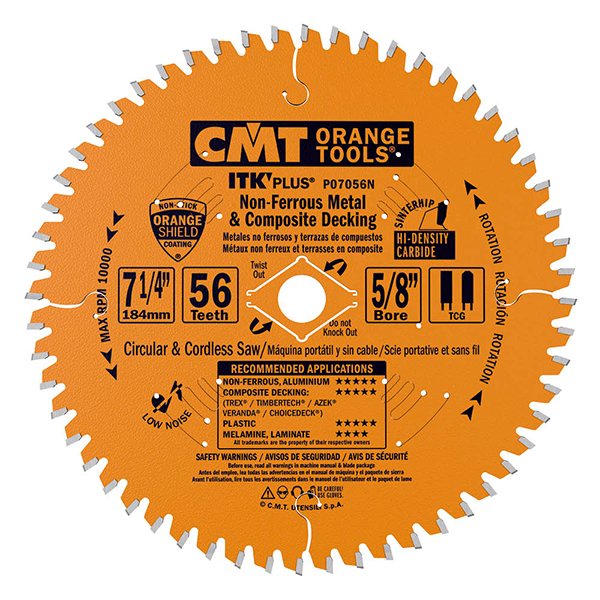 ITK Plus non-ferrous metal and Composite Decking  saw blades