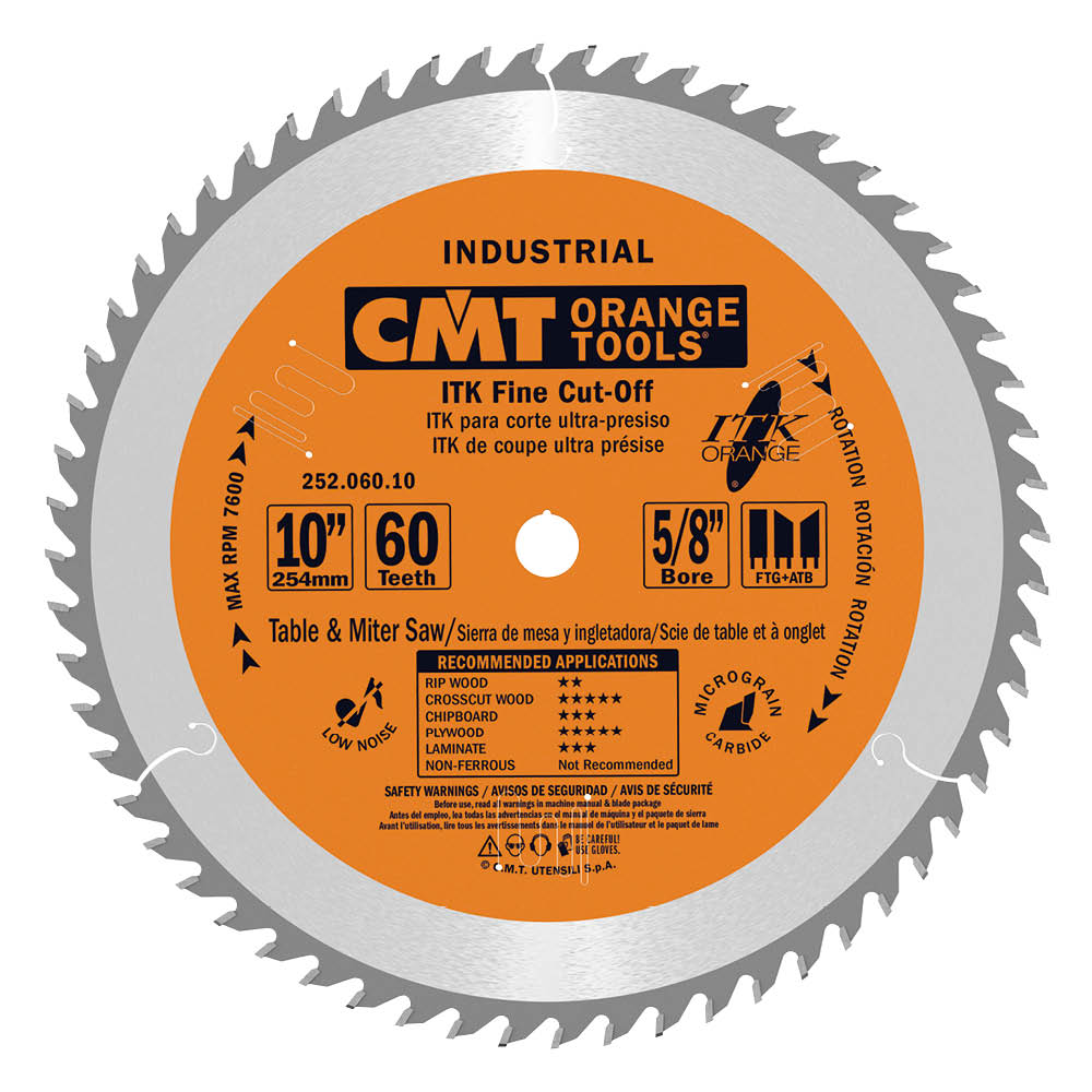 ITK fine cut-off circular saw blades