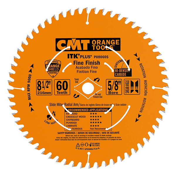 ITK Plus finish sliding compound miter circular saw blades
