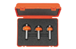3 piece cove router bit sets