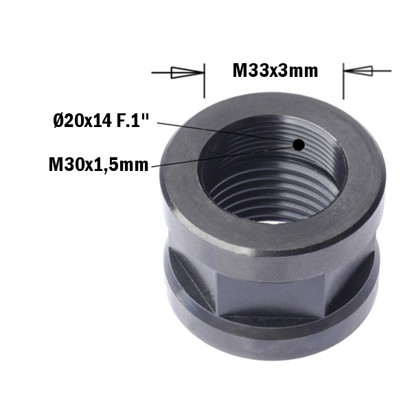 993 - Cap nuts for CNC machines