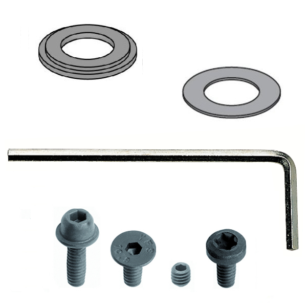 990 - Shield, spacer ring, key and screw kit