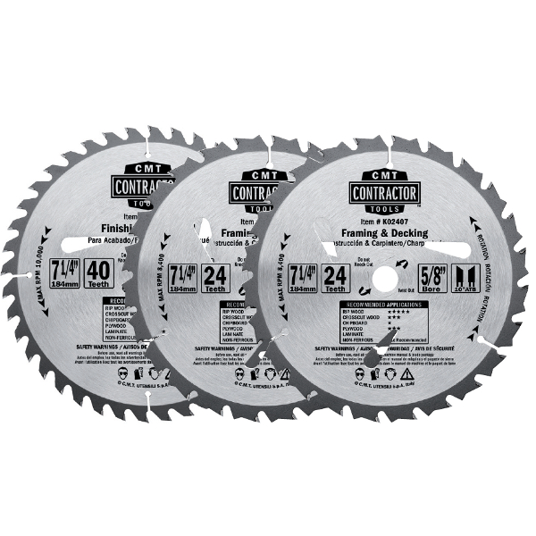 ITK Contractor combo pack circular saw blades