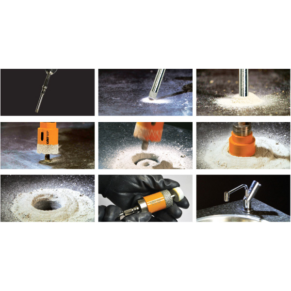 Diamond dry hole saws