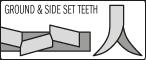 GROUND & SIDE SET TEETH
