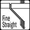 fine straight