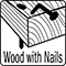 wood with nails