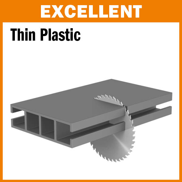 Industrial XTreme plexiglass and plastic circular saw blades