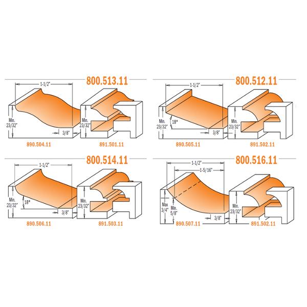 3 Piece Kitchen Sets Cmt Orange Tools