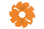Industrial multi-rip circular saw blades with rakers