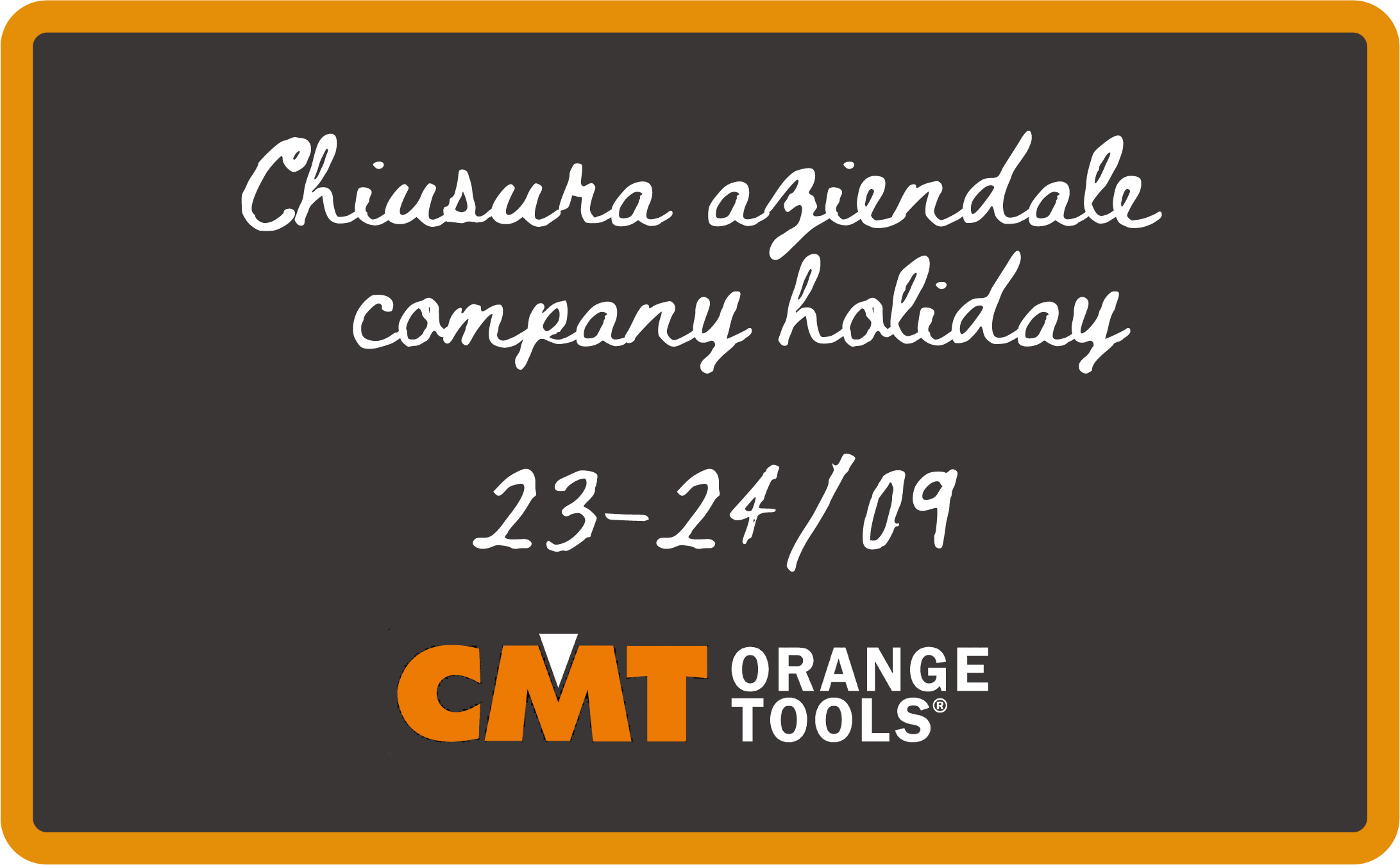 Company Holiday September 23rd-24th