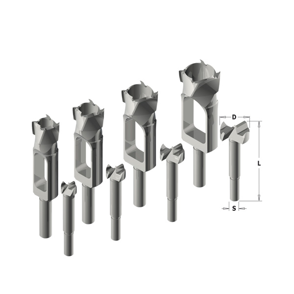 Boring bit and plug cutter sets