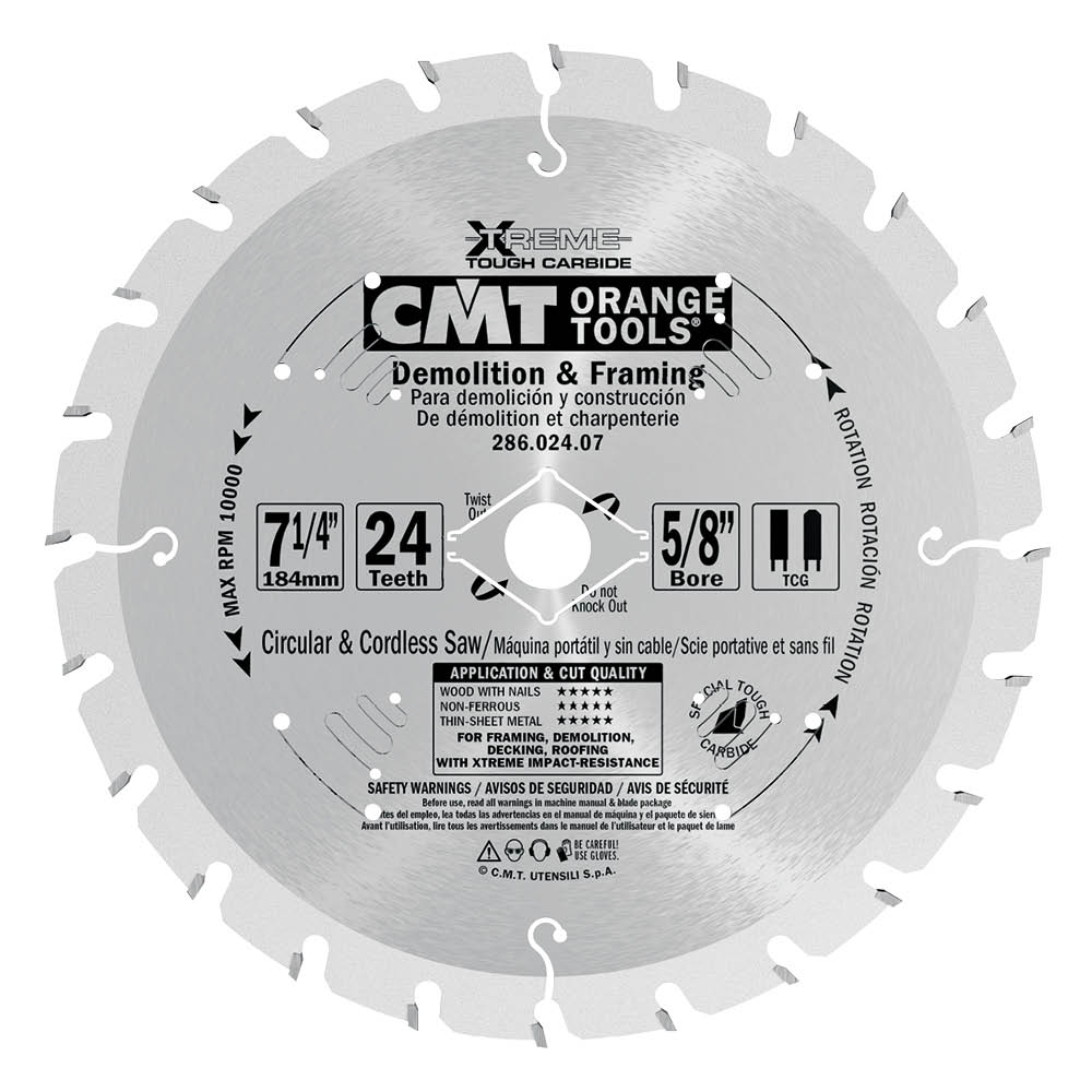 Industrial XTreme demolition & rescue saw blades